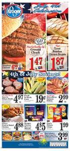 Our local Kroger store had great sales on ground beef, chicken and steak.